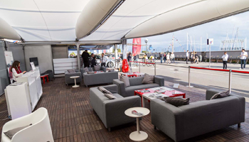 bancone bar reception per eventi sportivi