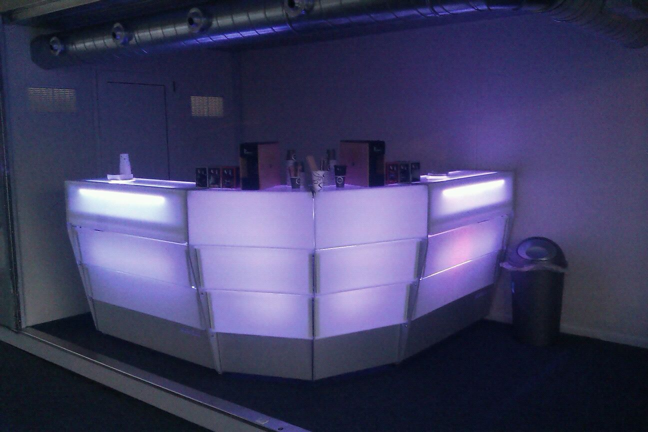 modular reception desk bar counter ideal for sports hospitality
