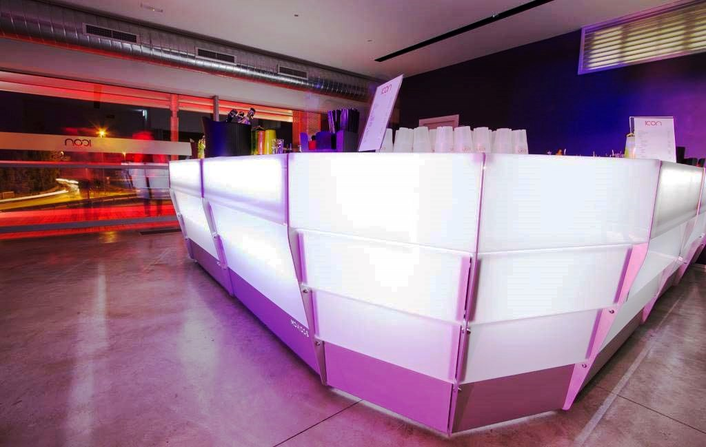 luminous professional outdoor and indoor bar counter