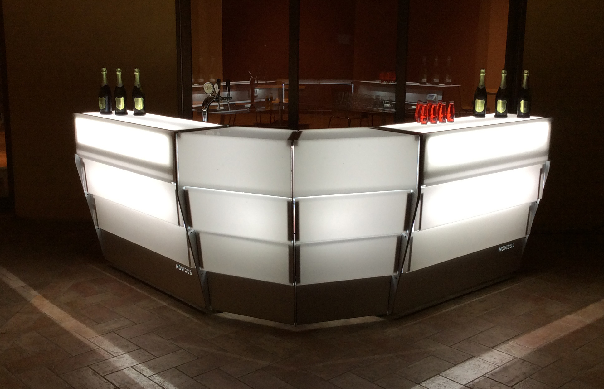 outdoor, indoor modular bar counter for hotel and restaurant