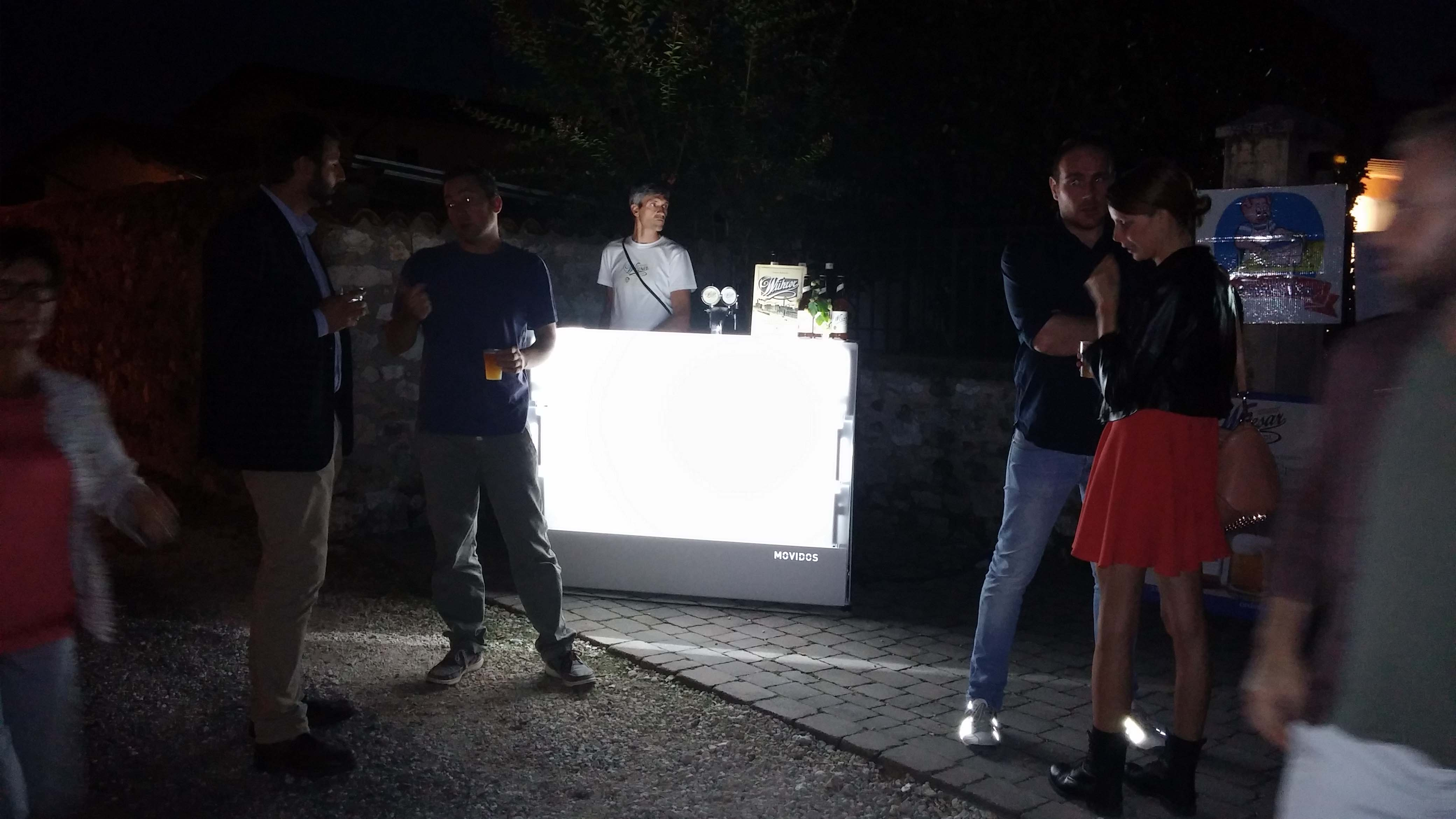 Professional illuminated modular bar counter for any events