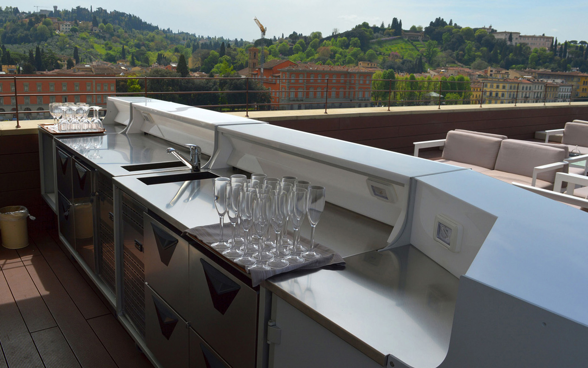 outdoor bar counter perfect for hotels of high level
