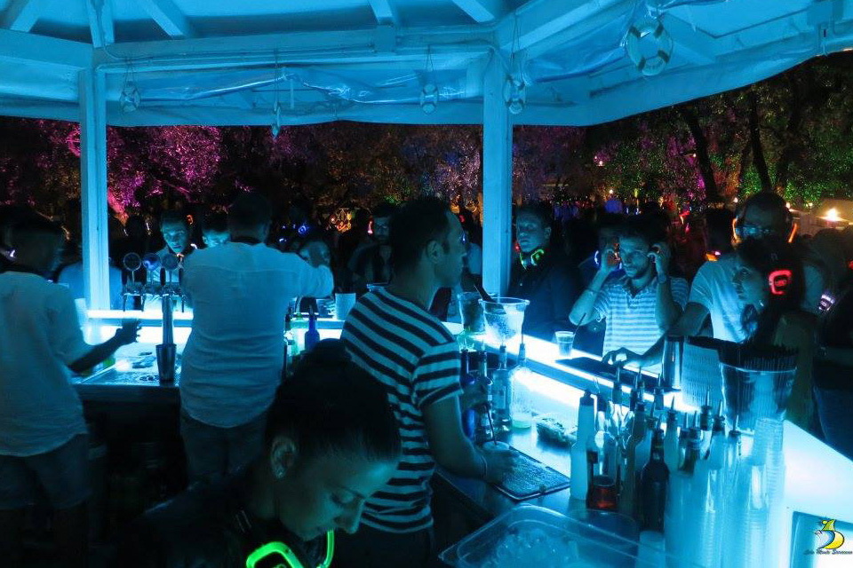 MOVIDOS bancone bar professionale luminoso per esterni