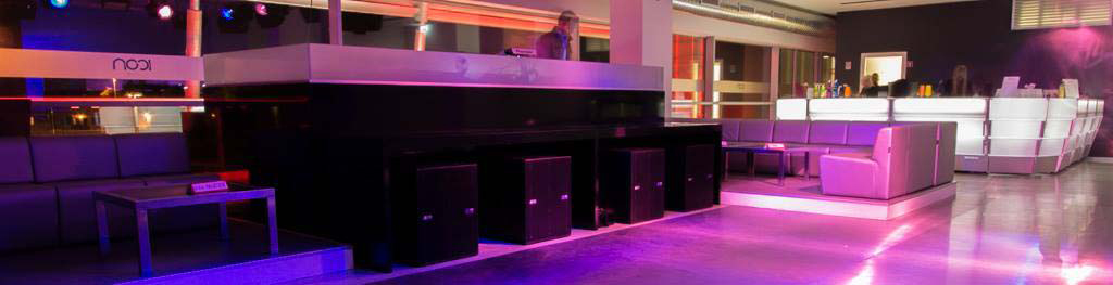 luminous bar counter for events, faires, demonstrantions