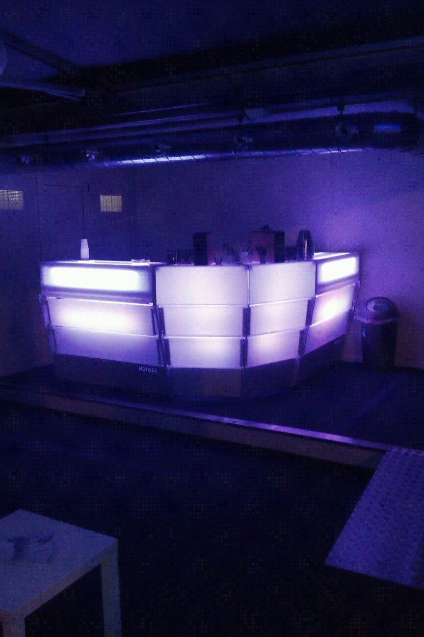 comptoir de bar luminuex configurable