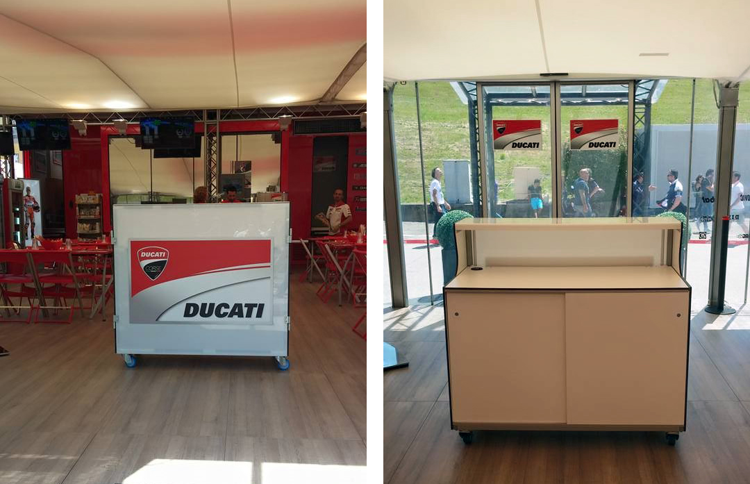 Foldable reception desk, practise, speed