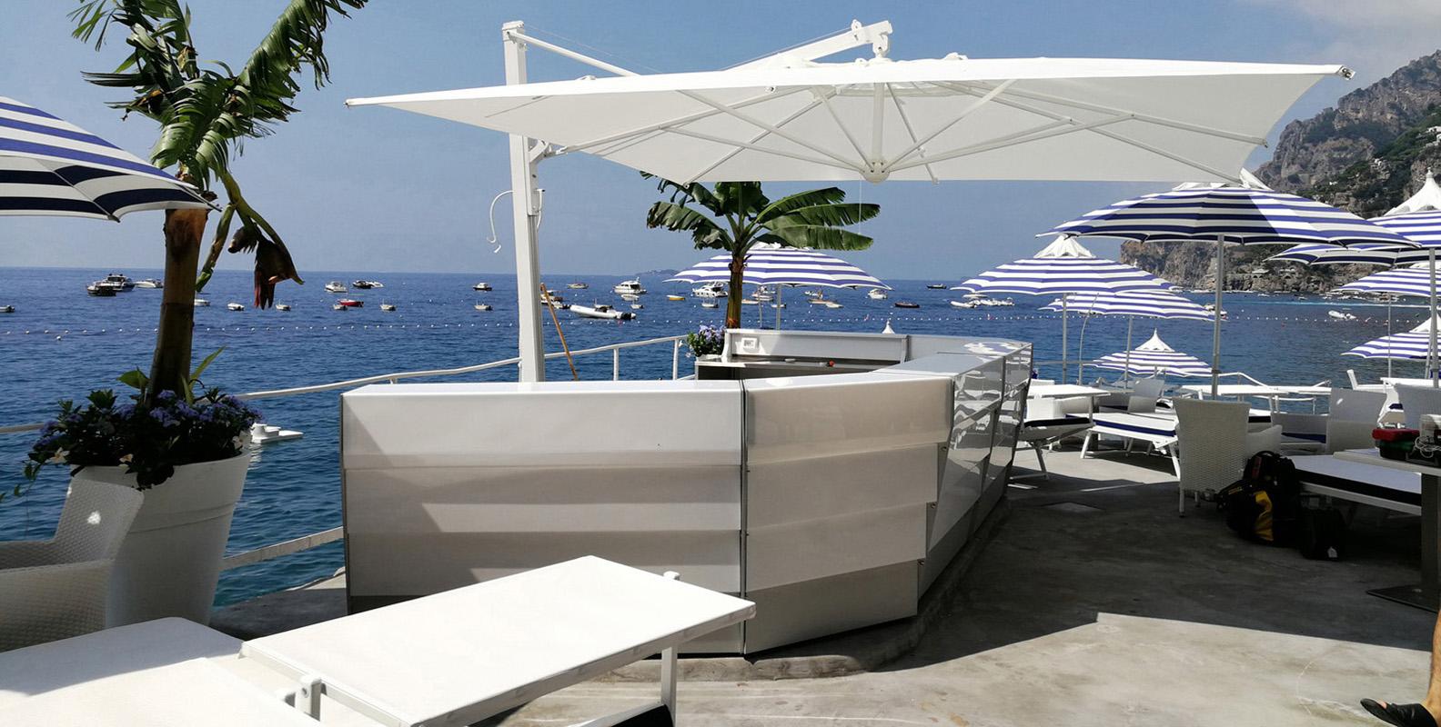 Bancone Bar Da Giardino bancone bar professionale modulare luminoso per esterni ed